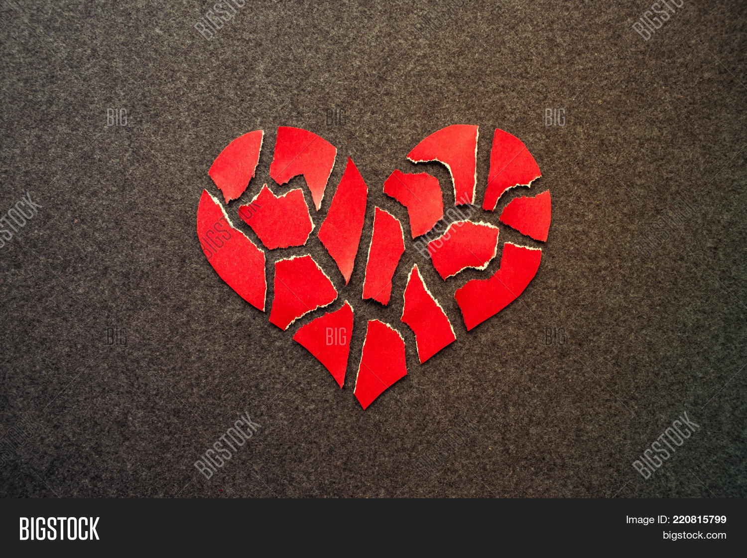 Paper Red Broken Heart Image Photo Free Trial Bigstock