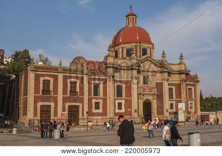 VILLA OF GUADALUPE, MEXICO CITY, DECEMBER 02, 2017 - Temple and Exconvent of the Nasturtiums built by the Architect Ignacio Castera between 1792 and 1797.