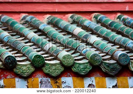 Detail from temple in Saigon, Vietnam