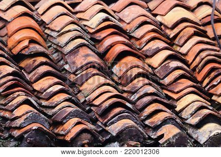 Terra Cotta roof tile background