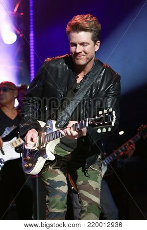 NEW YORK, NY - NOVEMBER 29: Musician Joe Don Rooney performs at America Salutes You and Wall Street Rocks Presents Guitar Legends For Heroes at Terminal 5 on November 29, 2017 in New York City.