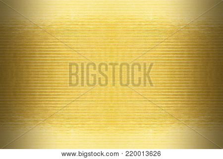 texture of the gold embossing of cardboard close up