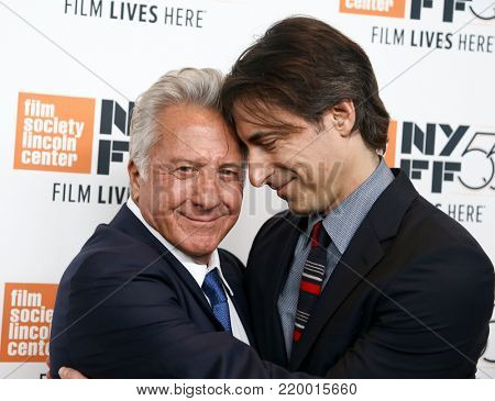 NEW YORK-OCT 1: Dustin Hoffman (L) and Director Noah Baumbach attend