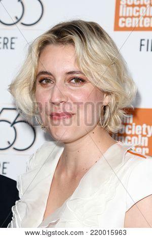 NEW YORK-OCT 1: Greta Gerwig attends the screening of