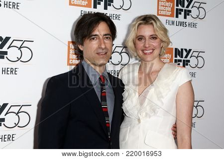 NEW YORK-OCT 1: Director/screenwriter Noah Baubach (L) and Greta Gerwig at