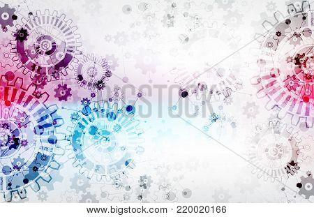 Scientific Technical Background Scheme Gears.