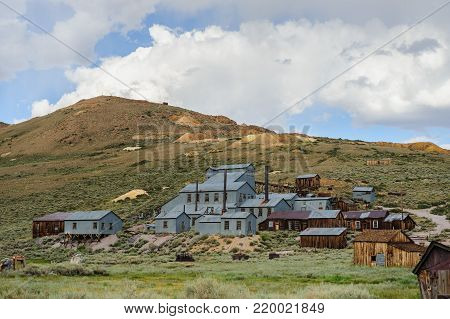 The old stamp mill mine forms a central part of the old ghost town of Bodie, California