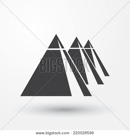 General view of pyramids from the Giza Plateau illustration three pyramids image