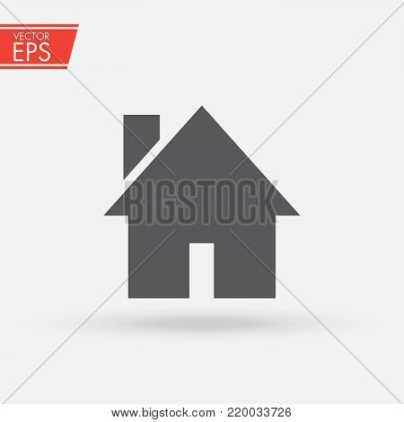 Home house icon illustration in flat syle. The symbol button for returning to the home page. Sign of the house, warmth and comfort. Icon for use in applications.
