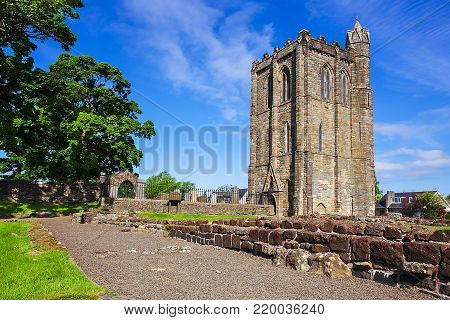 The Remains of Cambuskenneth Abbey an Augustinian monastery located near Stirling. Also the location of the tomb of James III, King of Scots. Scotland, UK.