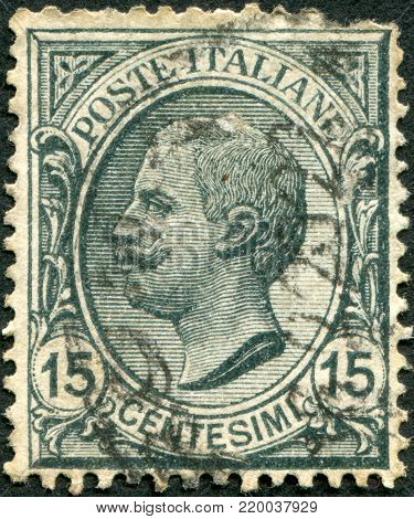 ITALY - CIRCA 1919: A stamp printed in Italy, shows the King of Italy Victor Emmanuel III, circa 1919