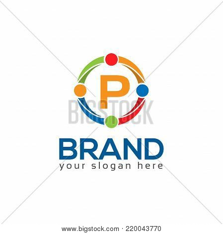 Letter P Circle Flat Vector Photo Free Trial Bigstock