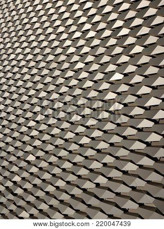 Hexagonal tilted alloy pattern in vertical