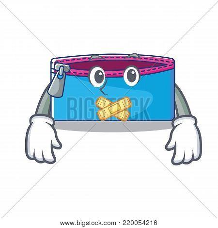 Silent pencil case character cartoon vector illustration