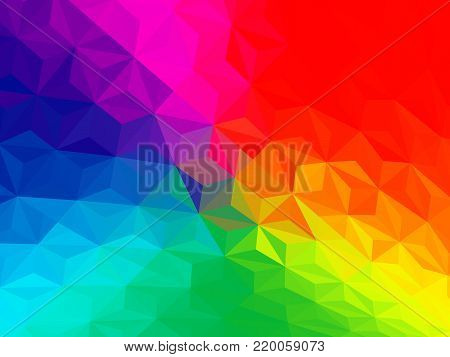 Vector three dimensional special effect. Optical illusion of 3d. Pattern with polygonal tiles. Abstract vector 3d effect. Illusion of gradient effect. Low poly pattern. Geometric background