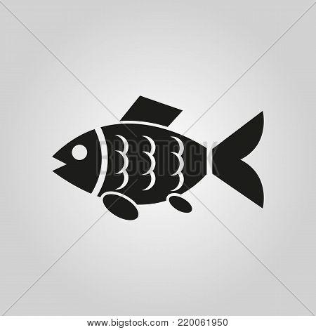 Fish icon. Fishing and angling, minnow symbol. Flat design. Stock - Vector illustration