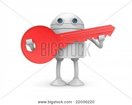 Robot with key