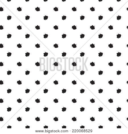 Black dots Holiday seasonal polka dots seamless pattern with brush drawing black circle shapes, for Valentine`s Day, Mothers Day, Woman`s Day, Birthday, Summer, Spring Holiday art, web, fashion dress clothes Vector Print Modern design.