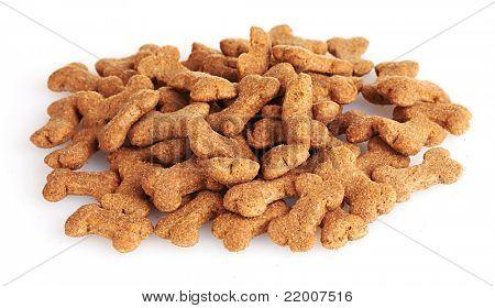 dog food isolated on white
