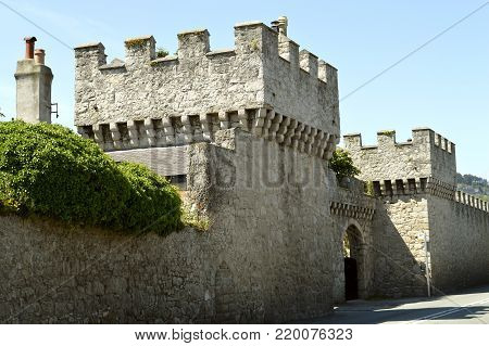 Denbighshire, Wales, United Kingdom - June 22, 2014 : Ruthin Castle in North Wales