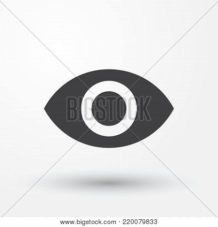 eye icon vector web style. Flat eye icon
