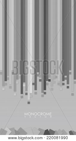Vector abstract monocrome background for your best phone. Tech design background. Vector illustration