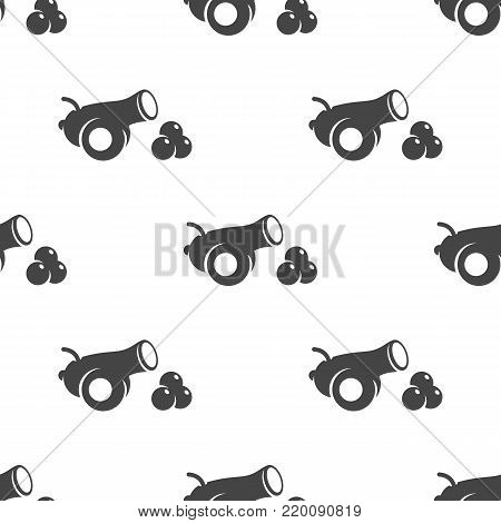 Cannon seamless pattern. Vector illustration for backgrounds