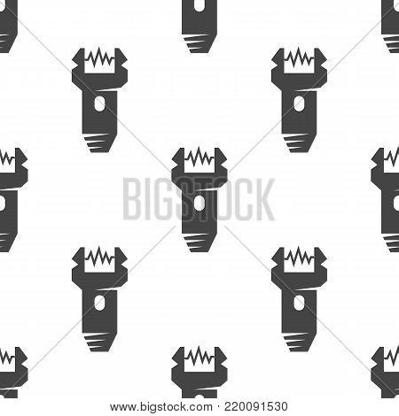 Electroshock weapon seamless pattern. Vector illustration for backgrounds