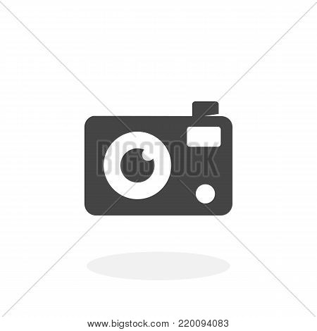 Camera icon isolated on white background. Camera vector logo. Flat design style. Modern vector pictogram for web graphics - stock vector