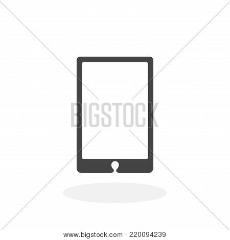 Smartphone icon isolated on white background. Smartphone vector logo. Flat design style. Modern vector pictogram for web graphics - stock vector