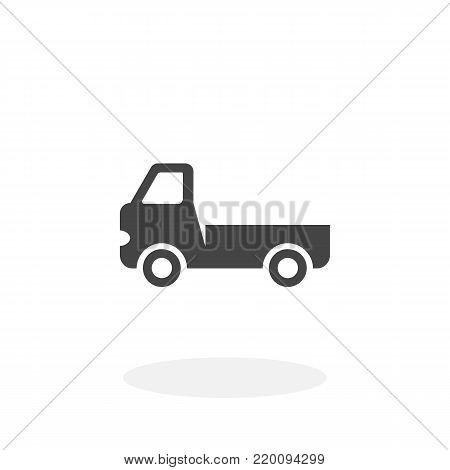 Truck icon isolated on white background. Truck vector logo. Flat design style. Modern vector pictogram for web graphics - stock vector