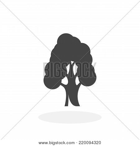 Tree icon isolated on white background. Tree vector logo. Flat design style. Modern vector pictogram for web graphics - stock vector