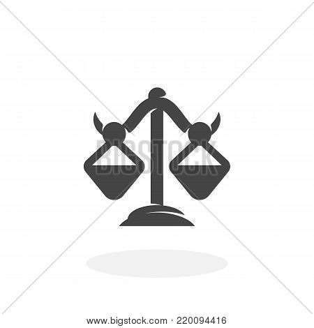 Libra icon isolated on white background. Libra vector logo. Flat design style. Modern vector pictogram for web graphics - stock vector