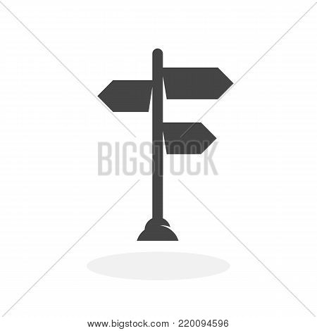 Signpost icon isolated on white background. Signpost vector logo. Flat design style. Modern vector pictogram for web graphics - stock vector
