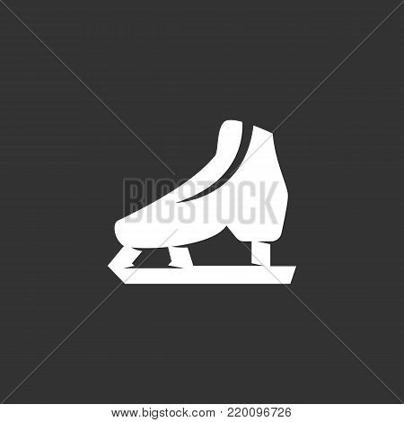 Skates icon illustration isolated on black background. Skates vector logo. Flat design style. Modern vector pictogram, sign, symbol for web graphics - stock vector
