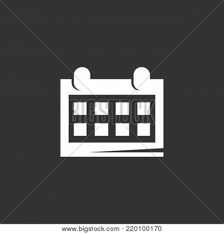 Calendar icon illustration isolated sign symbol. Calendar vector logo. Flat design style. Modern vector pictogram for mobile and web design - stock vector