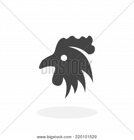 Chicken icon illustration isolated on white background sign symbol. Chicken vector logo. Flat design style. Modern vector pictogram for web graphics - stock vector