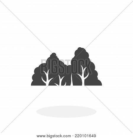 Forest icon illustration isolated on white background sign symbol. Forest vector logo. Flat design style. Modern vector pictogram for web graphics - stock vector