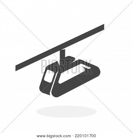Funicular icon illustration isolated on white background sign symbol. Funicular vector logo. Flat design style. Modern vector pictogram for web graphics - stock vector