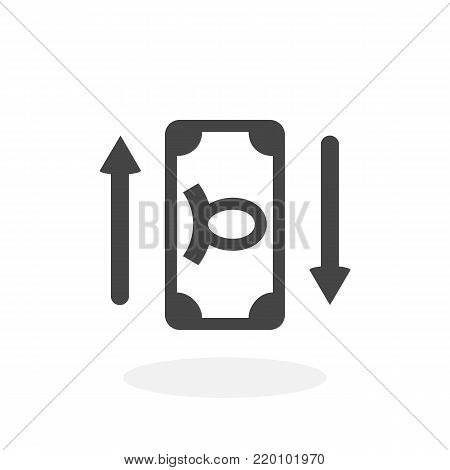 Money icon illustration isolated on white background sign symbol. Money vector logo. Flat design style. Modern vector pictogram for web graphics - stock vector