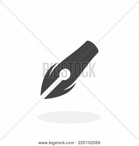 Pen icon illustration isolated on white background sign symbol. Pen vector logo. Flat design style. Modern vector pictogram for web graphics - stock vector
