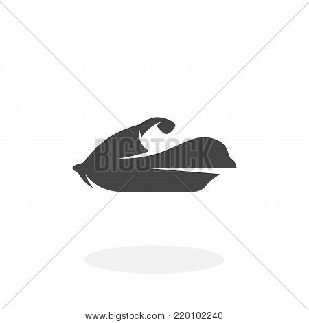Water scooter icon illustration isolated on white background sign symbol. Water scooter vector logo. Flat design style. Modern vector pictogram for web graphics - stock vector