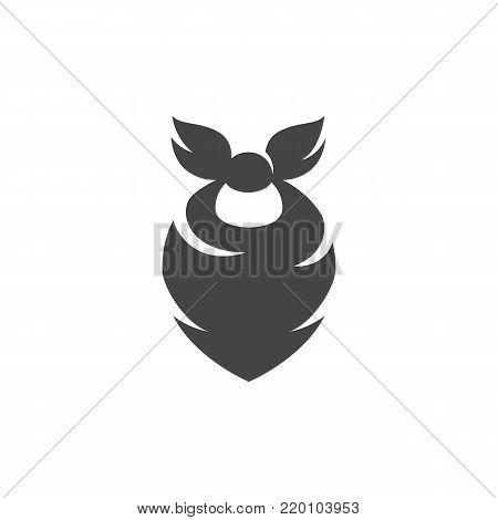 Cowboy bandana icon on white background. Cowboy bandana vector logo illustration isolated sign symbol. Modern pictogram for web graphics