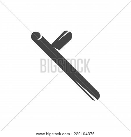 Rubber baton icon. Vector logo on white background
