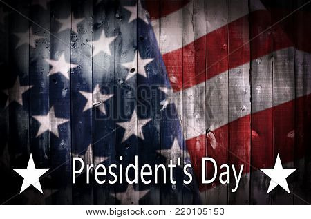 President's Day Background On Wood.