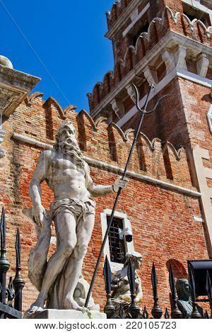 The statute of Neptune in Venice, Italy