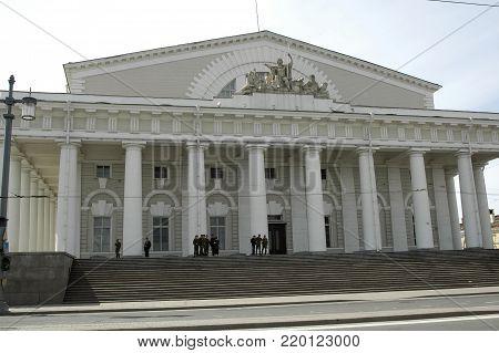 Saint-Petersburg, Russia - May 14, 2006: Old Saint Petersburg Stock Exchange