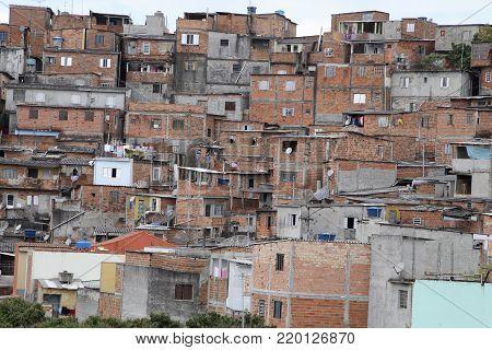 Slum, Neighborhood Of Sao Paulo, Brazil