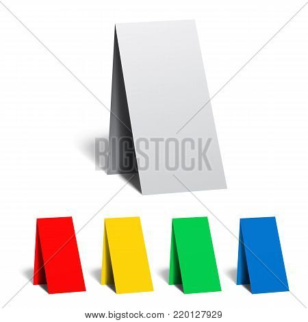Table pointer, badge, sticker, advertising banner and vector illustration