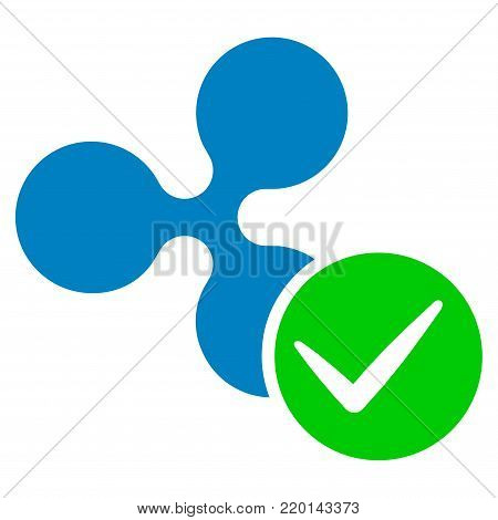 Accept Ripple flat vector icon. An isolated icon on a white background.